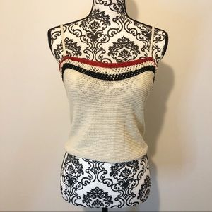 Zara Crochet Criss Cross Cropped Tank Top